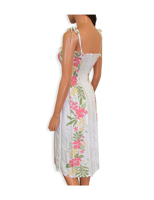 7ac8ee29f78 ... Tube Top Smock Hawaiian Dresses Lokelani 100% Rayon Fabric Smocked Tube  Top Design Tie On ...
