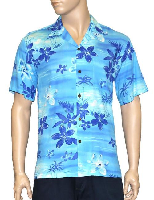 Hawaiian Shirt in Rayon Resort Moonlight Scenic