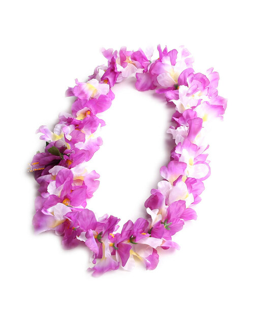 Lavender White Orchids Silk Flower Lei Silk Hibiscus Flower Accent Durable - Long-lasting Silk Unscented - Hypoallergenic Color: Lavender/White Length: 40 Inches Circumference Imported Do you need flower accessories for your big event? Ask about quantity discounts.