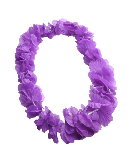 Purple Silk Flower Lei - Party Fun Durable - Long-lasting Silk Unscented - Hypoallergenic Color: Purple Length: 40 Inches Circumference Imported Do you need flower accessories for your big event? Ask about quantity discounts.