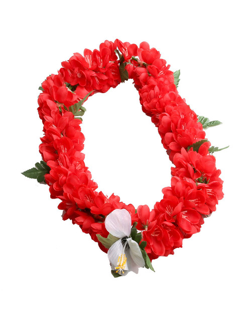 Red Shell Ginger Silk Flower Lei Silk Hibiscus Flower Accent Durable - Long-lasting Silk Unscented - Hypoallergenic Color: Red Length: 40 Inches Circumference Imported Do you need flower accessories for your big event? Ask about quantity discounts.