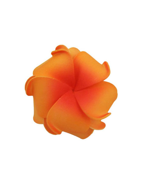 "Our Hawaiian Foam Flowers Accessories are the Hottest Fashion Statement today. They are Stylish and Stunning! Made of bendable foam, and formed into Hawaii's beautiful flower. They are perfect for weddings, luaus, graduations, fun pictures, and much more. Size: 3"" X 3"""