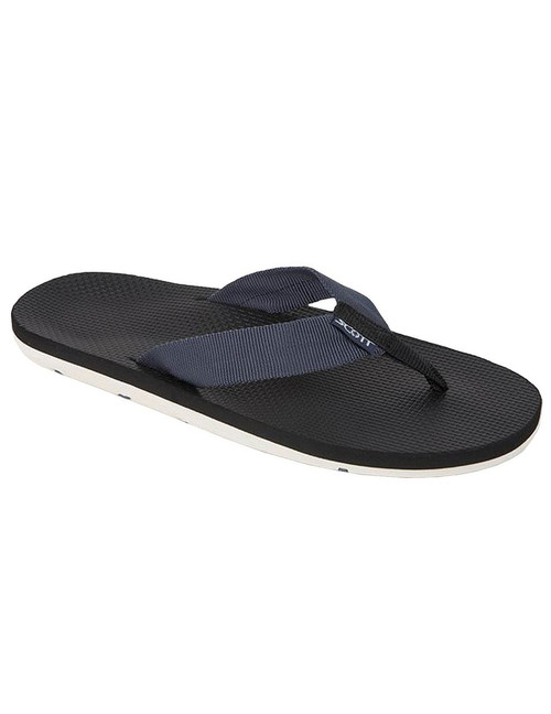 Beach Men's Navy Hokulea Sandals Scott Hawaii All rubber boat outsole with molded arch Textured Rubalon insole with heel cup Tubular nylon strap Color: Navy Sizes: 7 - 13 Imported