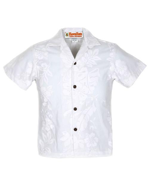 15dd825776f Boy s Hawaiian Shirt Big Island 100% Cotton Fabric Open Pointed Folded  Collar Genuine Coconut Buttons