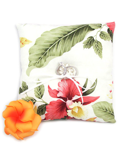 Orchid Pua Ring Bearer Pillow