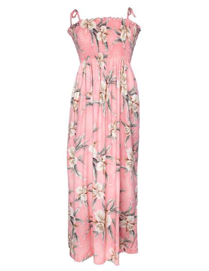 Malana Long Smocked Tube Top Dress