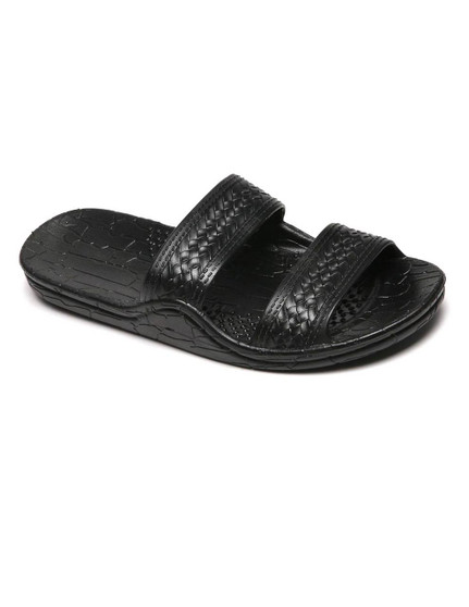 Jesus Sandals - Wide Comfort Fit Black Classic Jandals Unisex - Men and Women Sizes Wider Design - Better Fit Double Textured Straps - Secure Textured Insole - Soft Relaxing Midsole Air pockets - Added Comfort Sizes: 6-13  Color: Black Imported