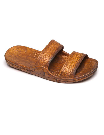 Jesus Sandals - Wide Comfort Fit Jandals Unisex - Kids, Men, Women Wider Design - Better Fit Double Textured Straps - Secure Textured Insole - Soft Relaxing Midsole Air pockets - Added Comfort Sizes: 1 - 13 Hill to Toe Size in Inches Color: Tan Imported
