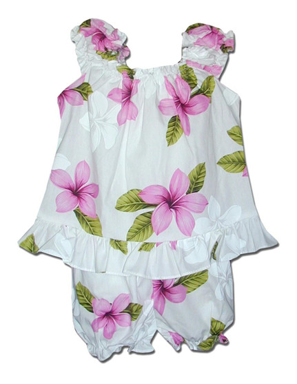 Infant Baby Clothes Capri Set Hibiscus Koala  Includes a Comfortable Top and Matching Bottom Diaper Cover 100% Cotton Fabric Color: Pink Sizes: 6 - 24 months Made in Hawaii - USA