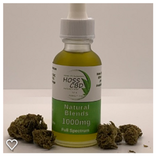HOSS CBD Broad Spectrum Tinctures are available in 1000mg