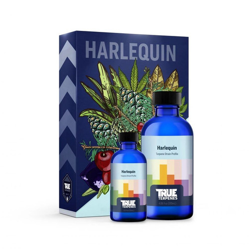 Harlequin will have you laughing like the joker. This myrcene dominant profile will lift your spirits and let you unwind. However, a wave of fresh forest pine keeps you from the couch. Scent/Taste: Pine, Herb, Earth Feels Like: Relaxed-Happy-Uplifted-Focused-Energetic Suggested Uses: Pain-Stress-Anxiety-Depression-Inflammation Tinctures 750mg - 1000mg - 1500mg - 3000mg Cartridges 500mgDelta 8 900mg Cartridge Hoss E-Blunt CBD / Delta 8 1:1 Ratio 800mg