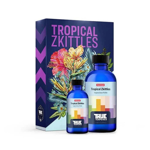 Hoss TROPICAL ZKITTLES Are Available in Delta 8 Cartridges, CBD Cartridges, & Tinctures