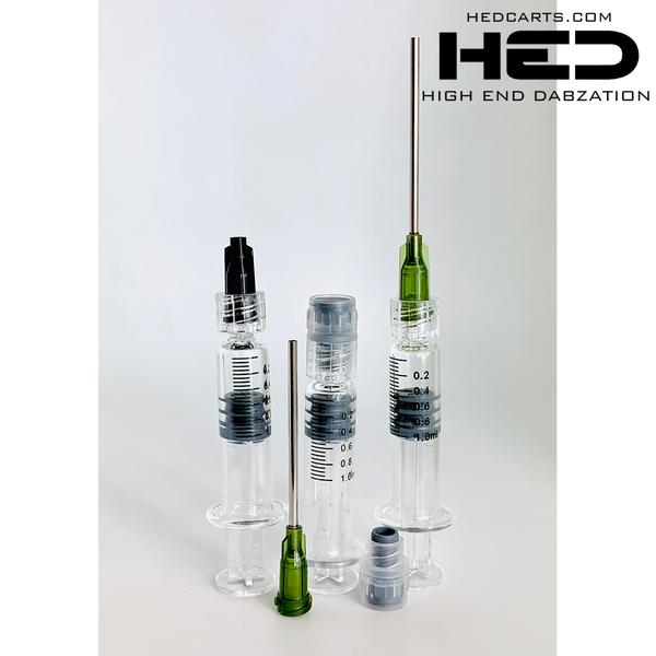 H E D GLASS APPLICATOR LUER LOCK SYRINGES W/ MEASUREMENTS 1ML