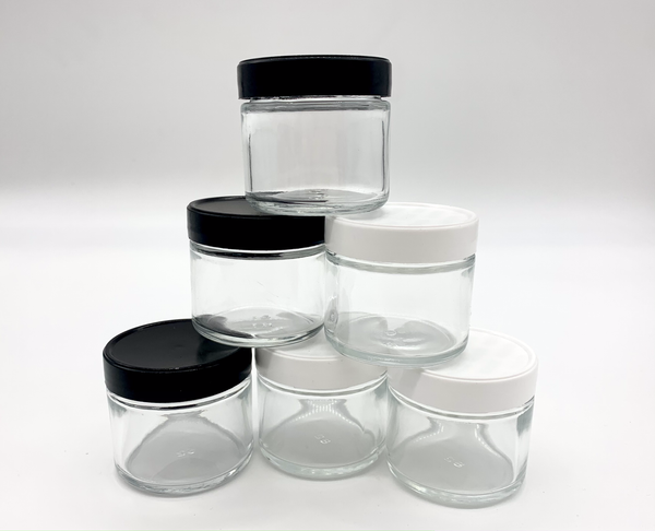 3.5G GLASS CONTAINER WITH PLASTIC LID