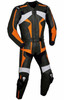 Leather racing suit custom made - style MS26888 WWW.LEATHER-SHOP.BIZ black front pic