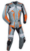 Leather racing suit custom made - style MS26888 WWW.LEATHER-SHOP.BIZ silver front pic