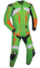 Leather racing suit custom made - style MS26888 WWW.LEATHER-SHOP.BIZ green front pic