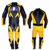 style MS2059 black and yellow WWW.LEATHER-SHOP.BIZ front and back pic