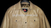 Leather Shirt LS014 WWW.LEATHER-SHOP.BIZ available in 8 colors custom made Tan color front pic 2