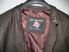 Leather shirt no collar style LS018 distressed dark brown WWW.LEATHER-SHOP.BIZ collar + label of shirt picture