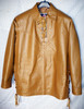 LS100 pullover leather shirt with side laces and fringe WWW.LEATHER-SHOP.BIZ front pic