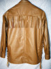 LS100 pullover leather shirt with side laces and fringe WWW.LEATHER-SHOP.BIZ back pic