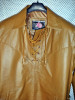 LS100 pullover leather shirt with side laces and fringe WWW.LEATHER-SHOP.BIZ collar pic