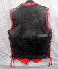 Mens Leather Vest Braided Style MLVB730R back pic