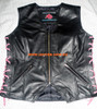 Ladies Leather Vest Style WLV1208 available in 9 colors