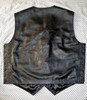 Leather vest 732 www.leather-shop.biz back 2 image