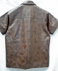 Leather Short Sleeve Shirt LS210 distressed style WWW.LEATHER-SHOP.BIZ back pic