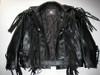 Fringed leather jacket custom made style MLFJ201 black WWW.LEATHER-SHOP.BIZ front opened pic