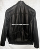 Leather bomber jacket back view pic
