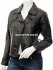 leather jacket for Ladies custom made LLJ602 front picture