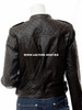made to order ladies leather jacket LLJ605 jacket back picture