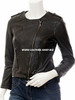 leather jacket womans style LLJ608 jacket front picture