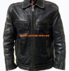 Leather Jacket Retro Style MLJ0096 Custom Made In 8 Colors
