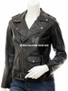 Ladies Leather Jacket Custom Made Motorcycle Style LLJ613 Made In 8 Colors