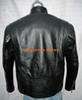 Leather Jacket Racer Style with Stripes MLJ225 Custom Made In 8 Colors