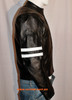 Leather Jacket Racer Style with Stripes MLJ233 Custom Made In 8 Colors