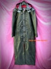 Leather Trench Coat with Hood Steampunk Style MTC613 Custom Made