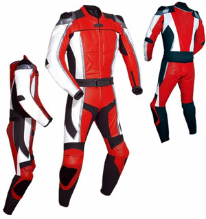 Leather Racing Suit style MS781 red WWW.LEATHER-SHOP.BIZ all sides pic