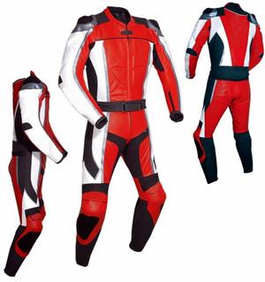 Costum de piele de curse stil MS781 roșu WWW.LEATHER-SHOP.BIZ toate părțile pic
