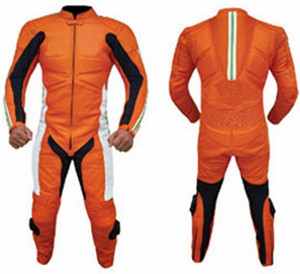 Costum de piele de curse personalizat - stil MS310 WWW.LEATHER-SHOP.BIZ fata si spate pic