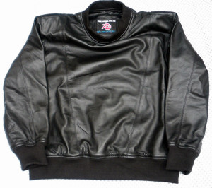Leather sweat shirt LSS010 with lambskin lining www.leather-shop.biz front of shirt picture