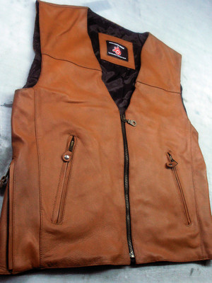 Mens Leather Vest Style MLV1370