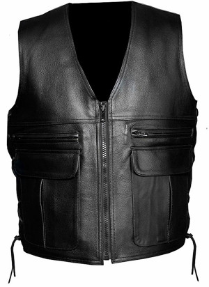 Leather vest 1380 www.leather-shop.biz front image