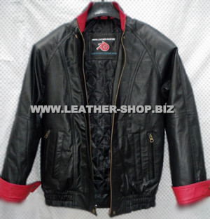 leather bomber jacket MLJ0032B front pic 2