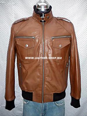 mens Bomber jacket custom made front pic