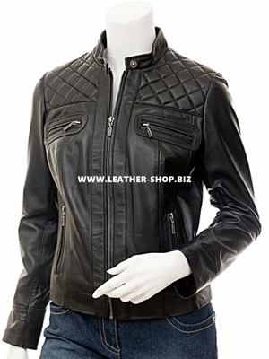 Custom leather jacket for ladies LLJ607 jacket friont picture